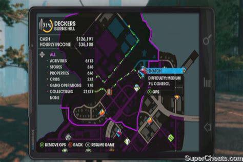 Saints Row 3 Gang Operations Map