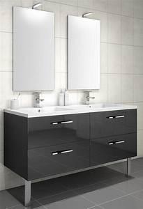 meuble sous vasque loft 4 tiroirs de 140 cm discac With meuble sous vasque salle de bain 140 cm