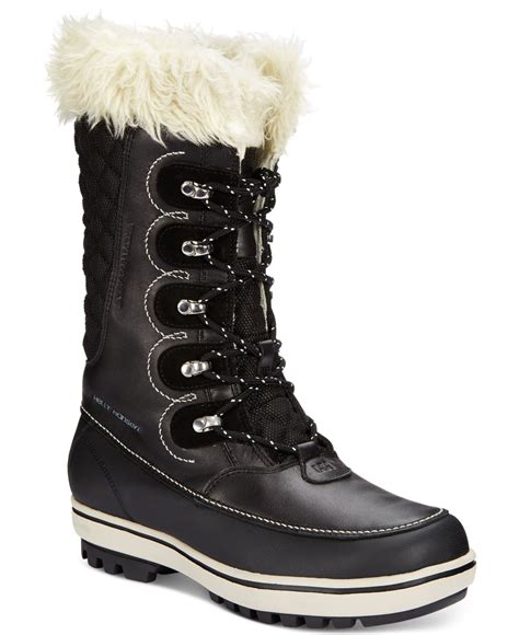 weather cold boots garibaldi fur helly hansen faux womens shoes lyst