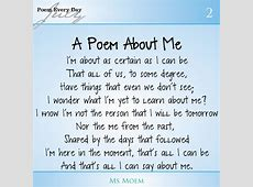 A Poem About Me #DailyPoemProject Ms Moem Poems