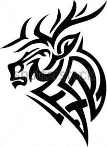 Deer Antler Tribal Tattoo