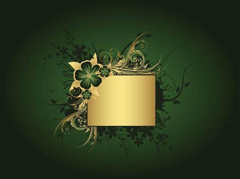 green  gold background vector art graphics