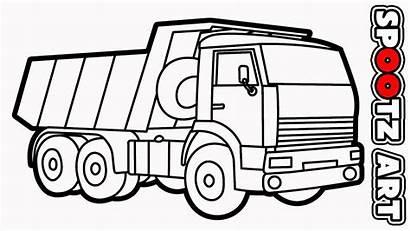 Truk Mobil Sketsa Menggambar Pasir