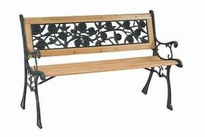 Banc De Jardin Bois : banc de jardin bois fonte meubles de jardin ~ Dode.kayakingforconservation.com Idées de Décoration
