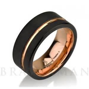 black and gold wedding band black tungsten ring gold wedding band ring tungsten 9mm 18k tungsten ring band