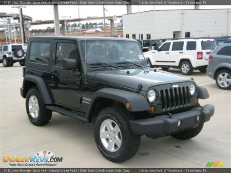 jeep dark gray 2010 jeep wrangler sport 4x4 natural green pearl dark