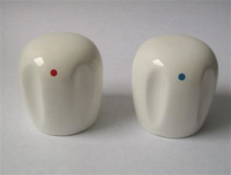 white ceramic handle replacement tap heads pack