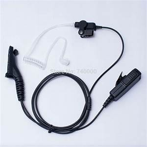 2 Wire Clear Tube Headset Earpiece Earphone For Radio Xpr