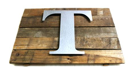 rustic wall plaque  metal craft letters diy