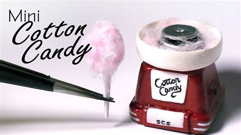miniature cotton candy machine polymer clay tutorial