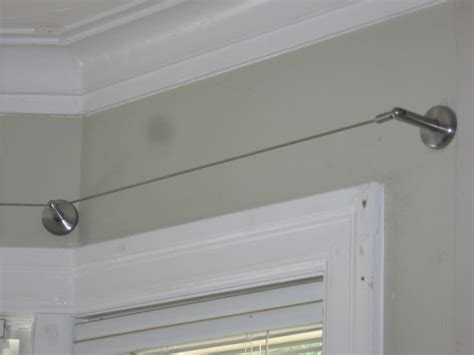 ikea curtain wire rod hanging system stainless steel