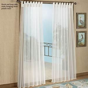 Escape Tab Top Sheer Indoor Outdoor Curtain Panels