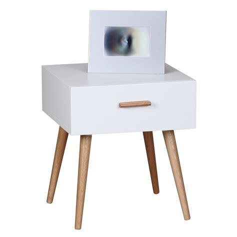 Kleiner Nachttisch Weiß by Finebuy Retro Nachttisch Wei 223 Matt Mit Schublade F 252 223 E
