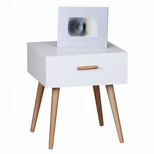 Nachttisch Weiß Günstig : finebuy retro nachttisch wei matt mit schublade f e ~ Michelbontemps.com Haus und Dekorationen