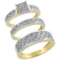bridal sets his and hers gold bridal sets - His And Wedding Ring Sets