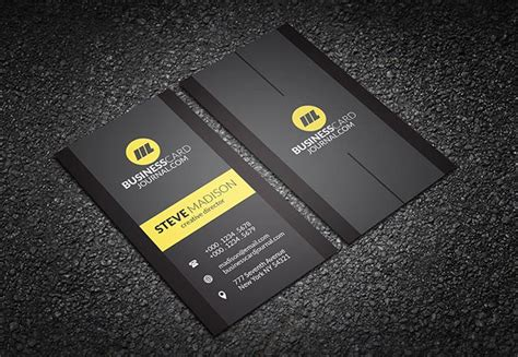 vertical business card template photoshop vertical black business card template business cards