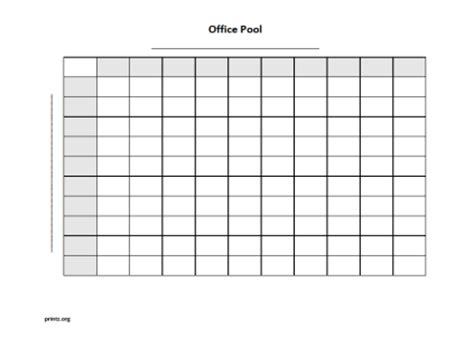 Www Free Office Football Pool by Office Pool 100 Squares