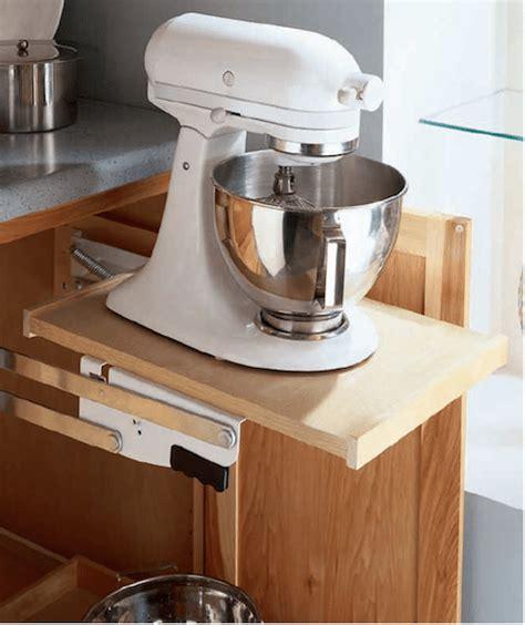 kitchen cabinet mixer lift kitchen storage solution ideas sawdust