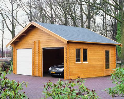 log cabin garage log cabins lugarde interlocking garages