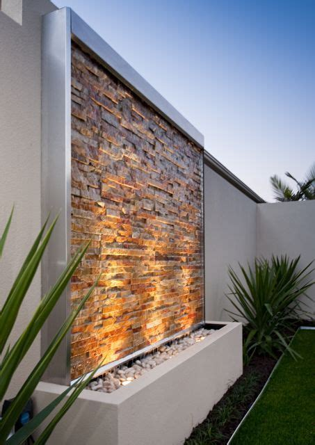 outdoor feature walls stone clad water wall kit contemporary water feature