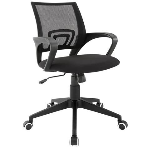 twilight mesh back office chair with rounded armrests black