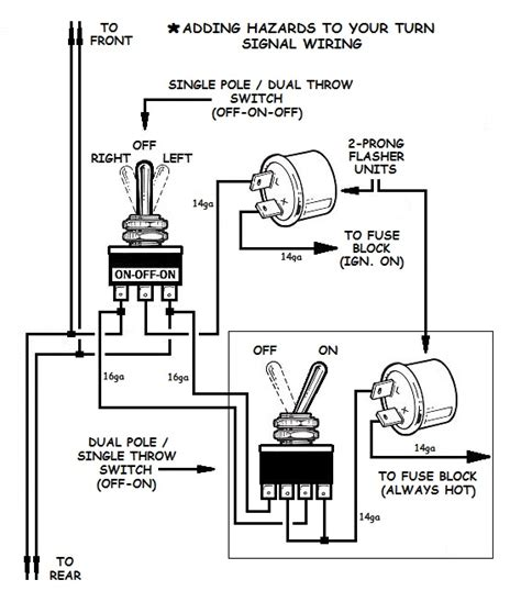 United Pacific Turn Signal Wiring Diagram by How To Add Turn Signals And Wire Them Up