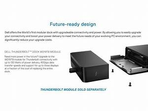 Dell Thunderbolt Dock Wd19tb Manual