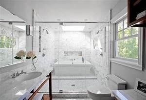 Smart, Design, A, Bath, Tub, Inside, A, Marble, Shower
