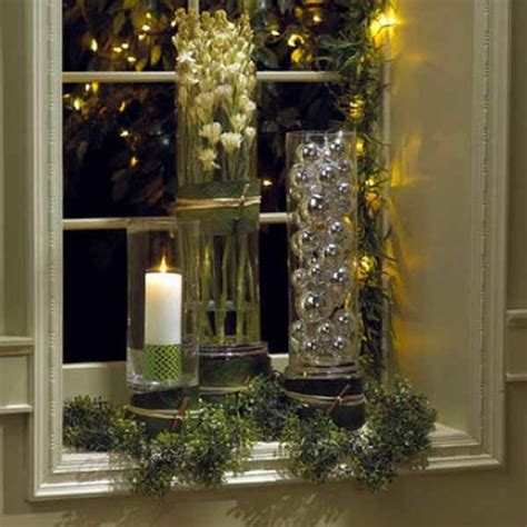 beautiful window sill decorating ideas  christmas