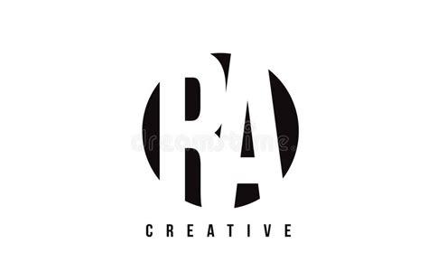 Ra R Q White Letter Logo Design With Circle Background