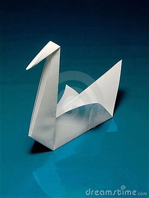 de zwaan van de origami stock afbeelding beeld