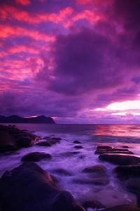 Norway - Claudio. Beautiful pink and purple sky reflecting ...