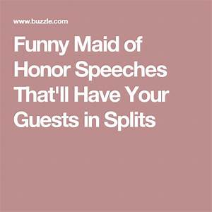 Funny Maid of H... Memorable Toast Quotes