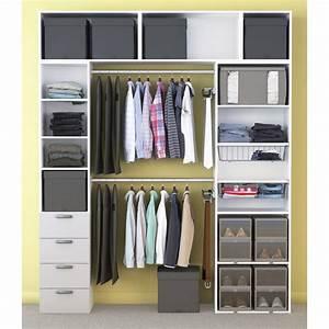 Dressing Leroy Merlin Modulable : dressing spaceo home blanc leroy merlin ~ Zukunftsfamilie.com Idées de Décoration