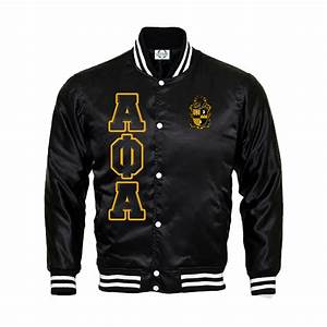 Alpha phi alpha satin bomber jacket divine nine greek for Greek letter bomber jacket