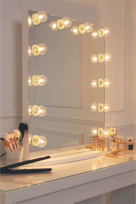 Vanity Mirror With Bulbs - glow vanity mirror with clear bulbs lullabellz
