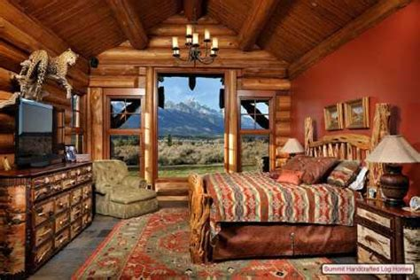 Log Cabin Home Decor  Bedrooms, Bathrooms And