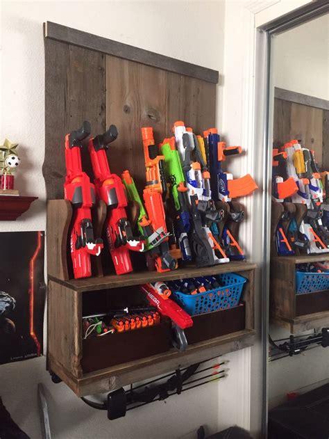nerf gun rack wall mounted   reclaimed barn wood