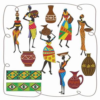 African Embroidery Carrying Transparent Machine Water Clipart