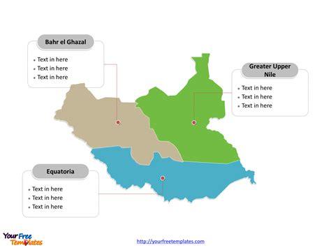 south sudan editable map  powerpoint templates