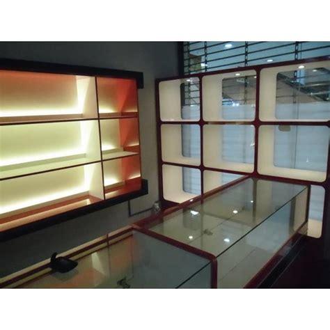 Rak Toko Kosmetik jasa etalase display interior toko kosmetik parfum