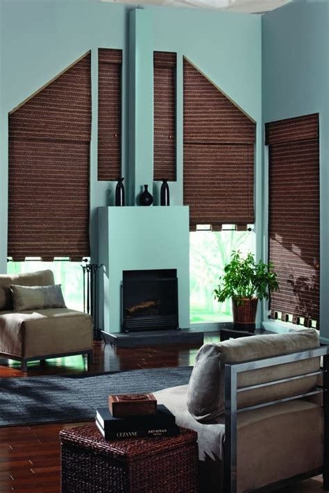 blinds  trapezoid windows  finishing touch