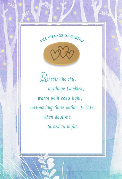 The Village Of Caring E Ouragement Card Greeting Cards
