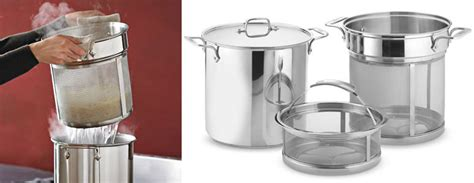 clad stainless steel multi pot  mesh inserts