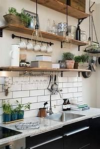 Le rangement mural comment organiser bien la cuisine for Deco etagere cuisine