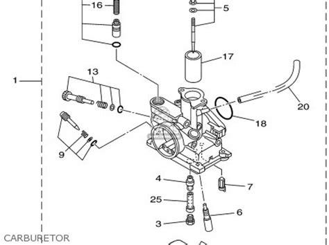 yamaha ttrp  parts list partsmanual partsfiche