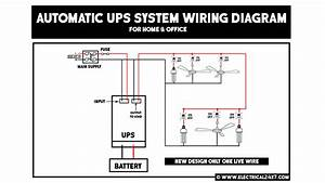 Automatic And Manual Ups System Wiring For Home Or Office With Circuit Diagram