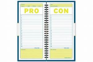 pro con journal neatorama With pro con list template