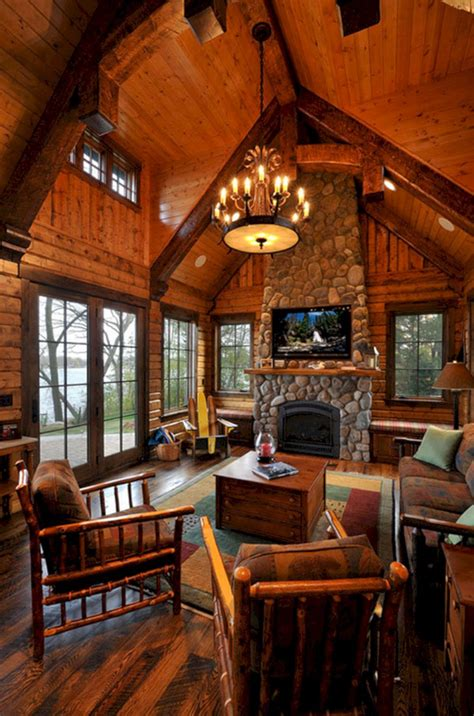 superb cozy  rustic cabin style living rooms ideas