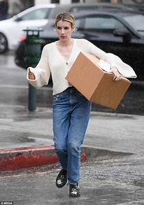 Emma Roberts glistens while picking up a package in Los ...